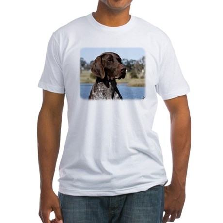 German Shorthaired Pointer 9Y832D-027 Fitted T-Shi