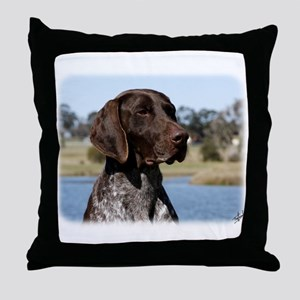 German Shorthaired Pointer 9Y832D-027 Throw Pillow