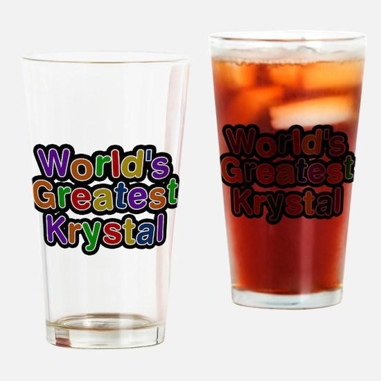 Worlds Greatest Krystal Drinking Glass