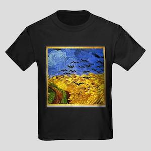 Van Gogh 'Crows in a Field' Kids Dark T-Shirt