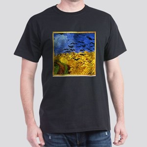 Van Gogh 'Crows in a Field' Dark T-Shirt