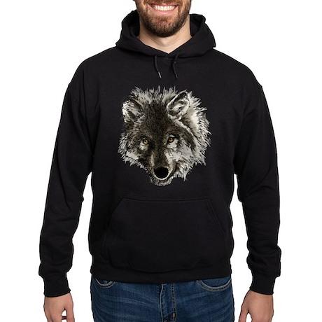 Wolf Portrait Hoodie (dark)