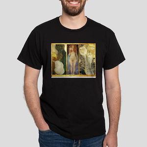 Gustav Klimt 'Water Collage' Dark T-Shirt