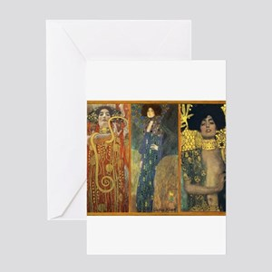 Gustav Klimt 'Dark Lady Coll Greeting Card