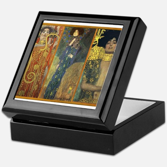 Gustav Klimt 'Dark Lady Coll Keepsake Box