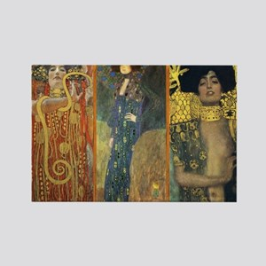 Gustav Klimt 'Dark Lady Coll Rectangle Magnet