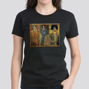 Gustav Klimt 'Dark Lady Coll Women's Dark T-Shirt