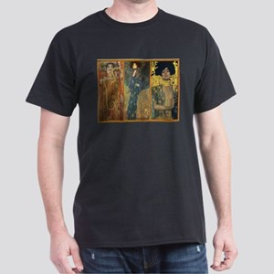 Gustav Klimt 'Dark Lady Coll Dark T-Shirt