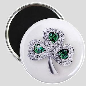Emerald Shamrock Magnet