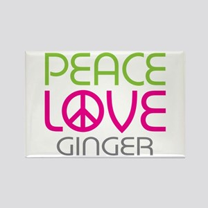 Peace Love Ginger Rectangle Magnet