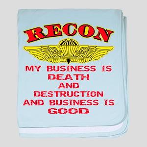 RECON Death & Destruction baby blanket
