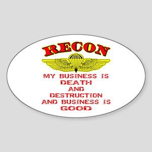 RECON Death & Destruction Sticker (Oval)