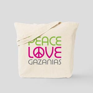 Peace Love Gazanias Tote Bag