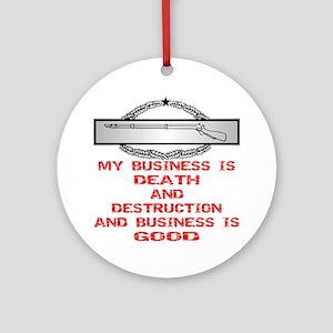 CIB Death And Destruction Ornament (Round)