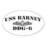 USS BARNEY Sticker (Oval)