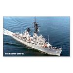 USS BARNEY Sticker (Rectangle)