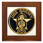 USS BARNEY Framed Tile