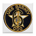 USS BARNEY Tile Coaster