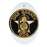 USS BARNEY Ornament (Oval)