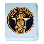 USS BARNEY baby blanket