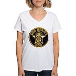 USS BARNEY Women's V-Neck T-Shirt