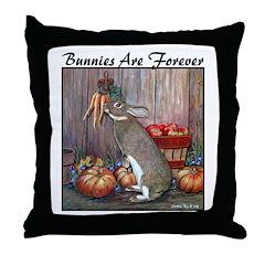 Lil Brown Rabbit Throw Pillow