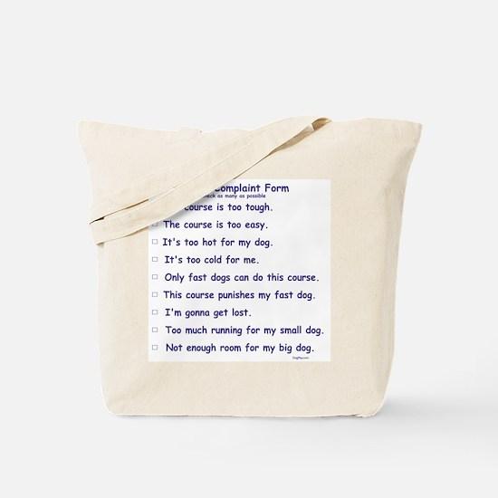 Agilty Complaint Form Tote Bag