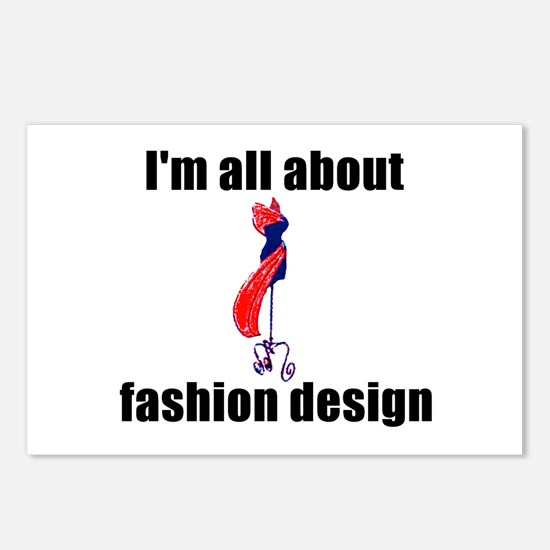 I'm All About Fashion Design! Postcards (Package o