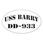 USS BARRY Sticker (Oval)