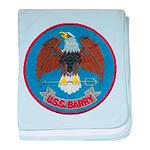USS BARRY baby blanket