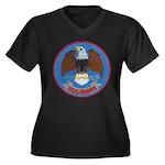 USS BARRY Women's Plus Size V-Neck Dark T-Shirt