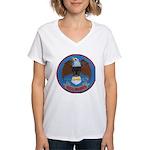 USS BARRY Women's V-Neck T-Shirt