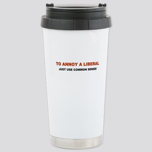 Annoy a Liberal Stainless Steel Travel Mug