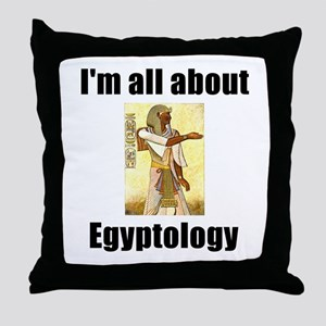 I'm All About Egyptology! Throw Pillow