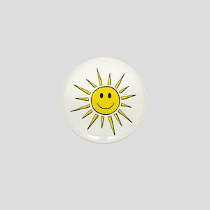 Smile Face Sun Mini Button