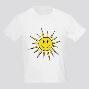 Smile Face Sun Kids Light T-Shirt