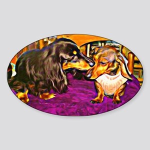 Doxies in Collusion Sticker (Oval)