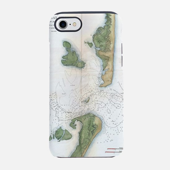 Vintage Map of The Barnegat In iPhone 7 Tough Case