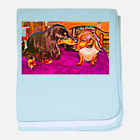 Doxies in Collusion baby blanket