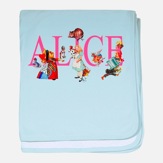 ALICE & FRIENDS IN WONDERLAND baby blanket