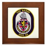 USS BARRY Framed Tile