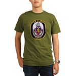 USS BARRY Organic Men's T-Shirt (dark)