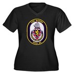 USS BARRY Women's Plus Size V-Neck Dark T-Shirt