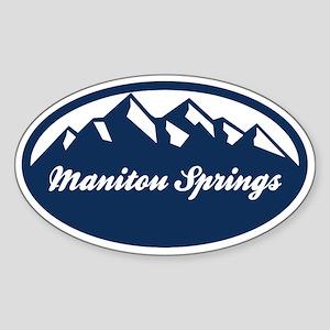 Manitou Springs Sticker (Oval)