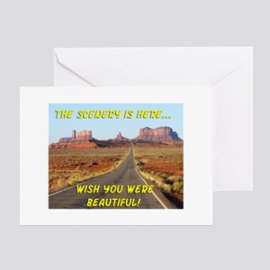the scenery is here Greeting Card