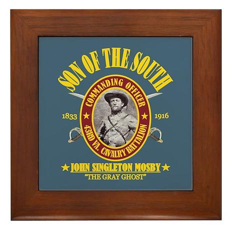 John S Mosby (SOTS) Framed Tile