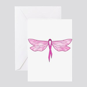 Breast Cancer Dragonfly Greeting Card