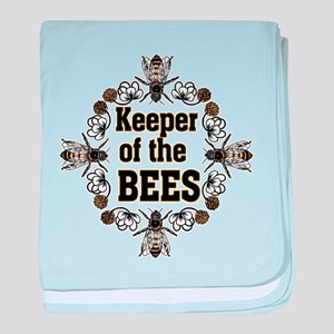 Keeping the Bees baby blanket