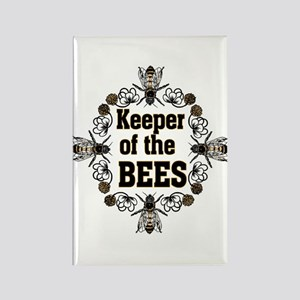 Keeping the Bees Rectangle Magnet