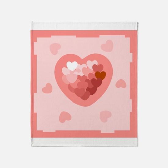 HEART {26} : lt pink Throw Blanket